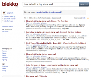 Example Blekko search