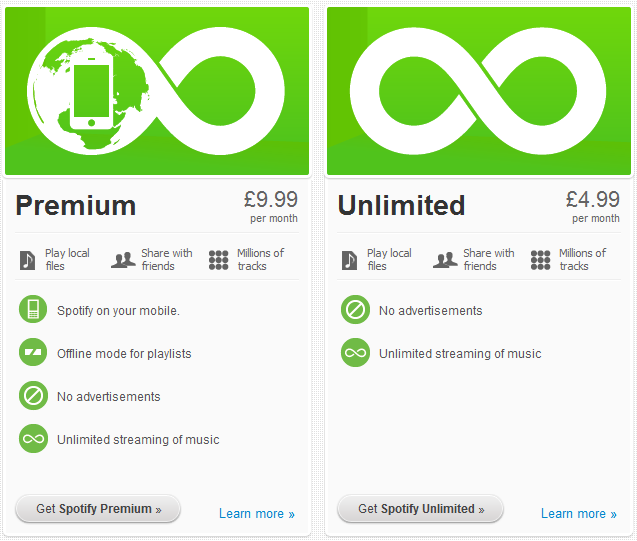 Spotify Premium v Unlimited; Why I Downgraded