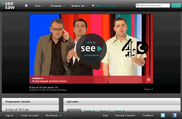 SeeSaw screenshot