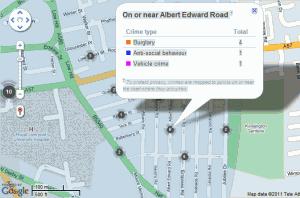 Street Level Crime Map
