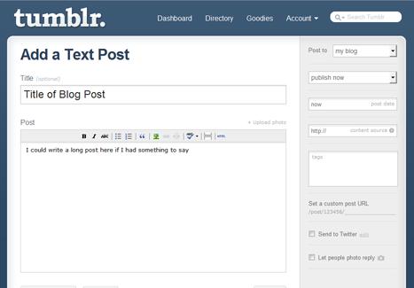 Tumblr Add Post