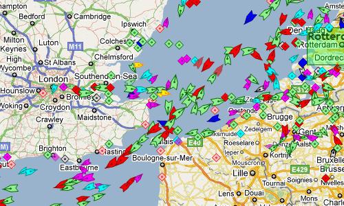 Realtime Ship Maps